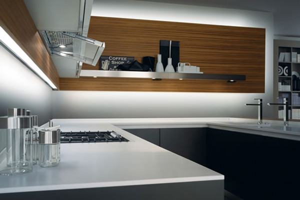 Kitchen made of Corian®