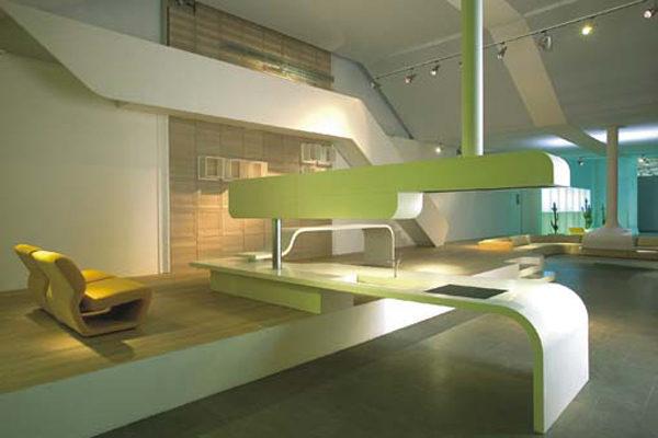 Progettazione stand Saporiti - allestimento espositivo in Corian 01