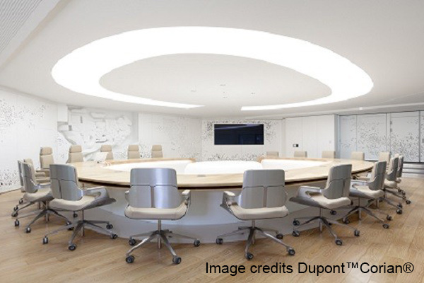 Corian contract andreoli corian solid surfaces for Ufficio stampa design