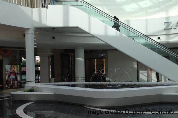 Shopping Center made of corian