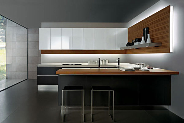 Cucina Design Salvarani - Piano lavoro in corian - 01