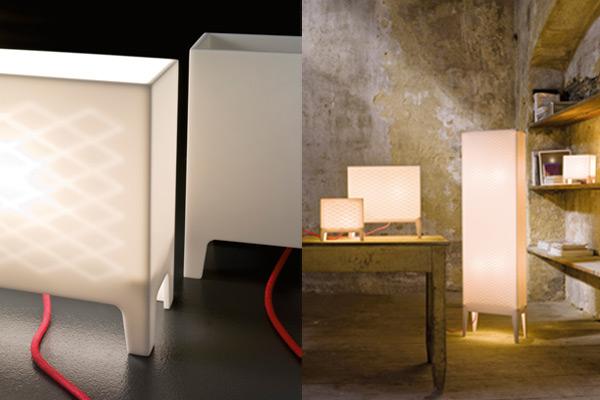 Lampada design in Corian® - Bianca