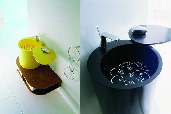 Bmood, lavabo di design realizzato in Corian®
