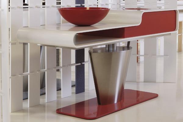 Piano Lavabo di design realizzato in Corian®