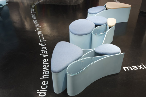 Lavorazione Corian Design Neverending - Allestimento 03