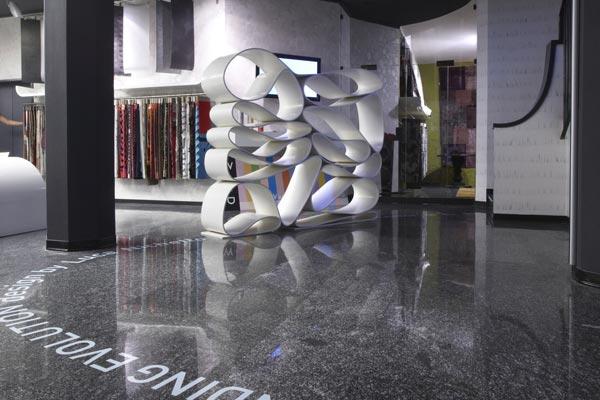 Lavorazione Corian Design Neverending - Allestimento 06