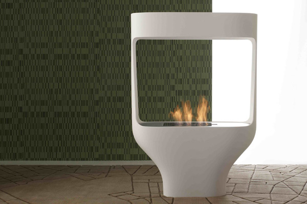 Corian Design - tulip bio-fireplace