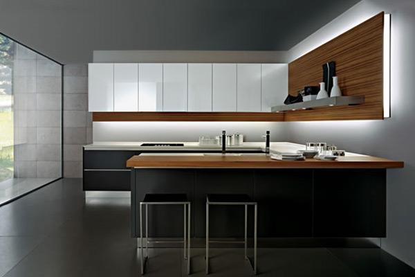kitchen design in corian