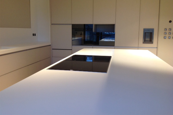 Piano In Corian Cucina.Portfolio Living Andreoli Corian Solid Surfaces