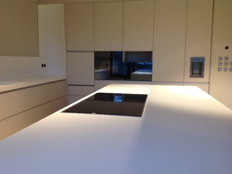 White Corian® Kitchen Top