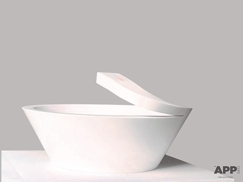 APP, Lavabo di design realizzato in Corian®