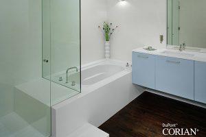 Vasca da bagno su misura in corian con doccia andreoli corian