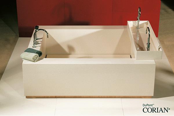 Vasca da bagno su misura in corian andreoli corian solid surfaces - Vasche da bagno su misura ...