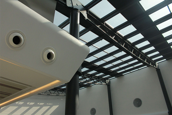 Realizzazione rivestimento interno in Solid Surface Centro Commerciale in Azerbaijan Lavorazione