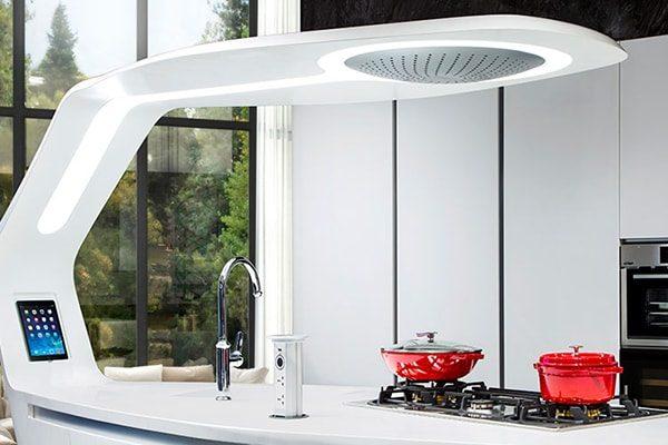 Cucina di Design in Corian SWAN