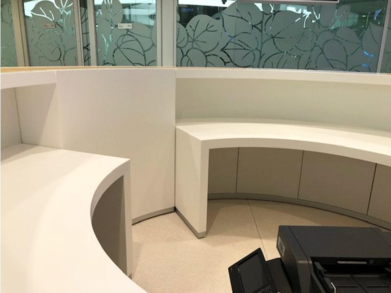 BANK POLSKI Interior design in Corian@