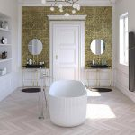 Vasca Bagno Corian Lusso Design Impero Mosaico