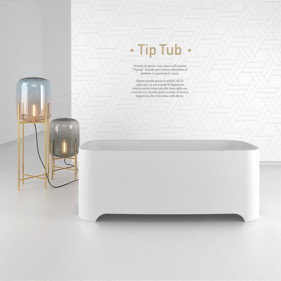 Vasca Bagno Corian Lusso Design Tip Tub