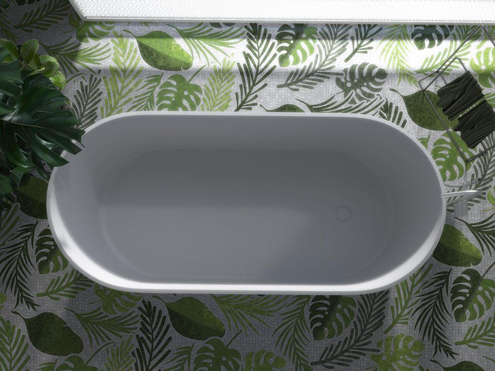Vasca da bagno su misura in Corian